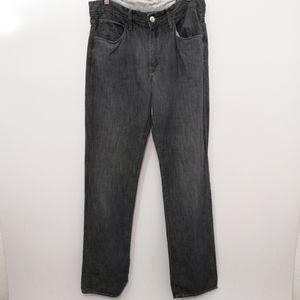 Agave Denim Pragmatist Flax Black Linen Jeans 33